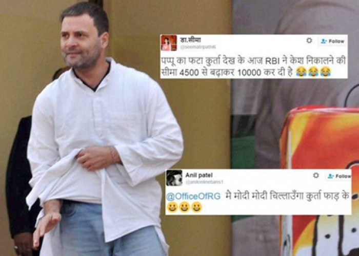 Here's how twitter reacted to Rahul's 'phata kurta' statement during Uttarakhand rally
