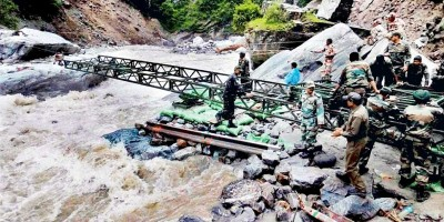 BRO built bridges to help stranded villagers in Pithoragrah district